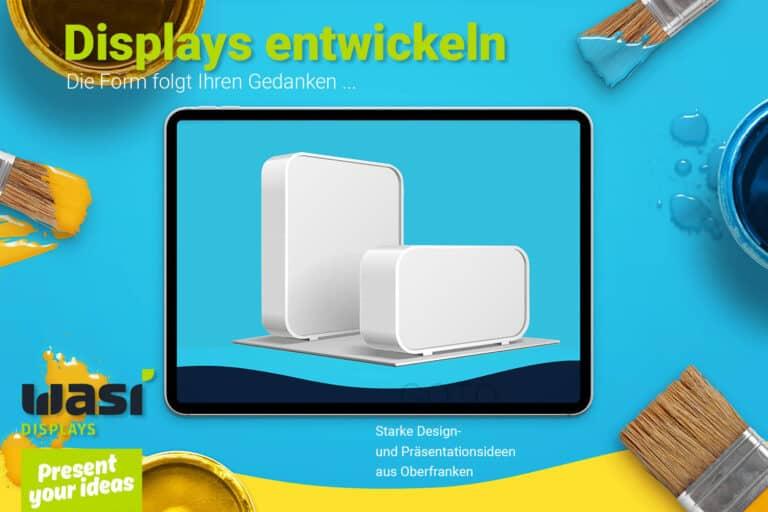 Slider Entwickler Werbedisplays mit Display-Rendering und Aufschrift