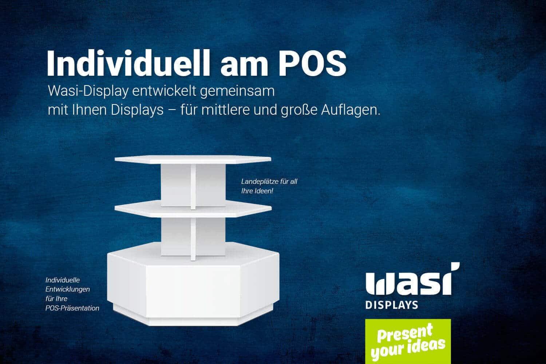 Individuelle POS-Präsentation weißes Bodendisplay von Wasi