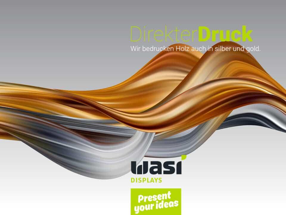 """Slider mit wellenförmigem Muster und Aufschrift """"Direkter Druck"""""""