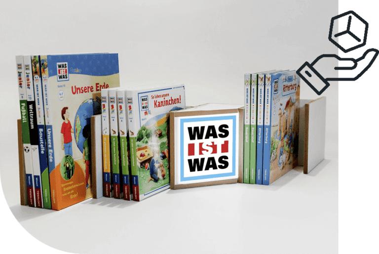 Nachhaltige Produktdisplays Was ist was Bücherregal