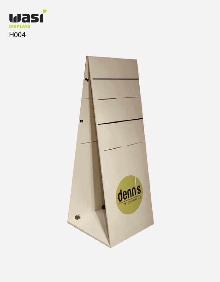 Holzdisplays Modell H004 Zeitungsaufsteller für denn's Biomarkt