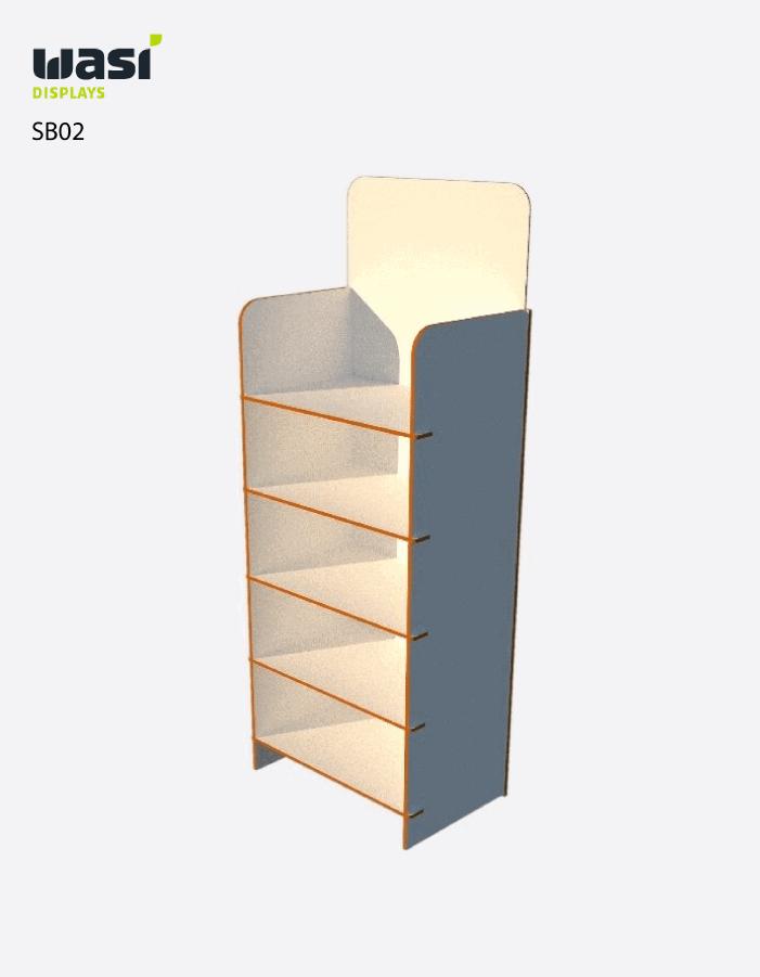 Standardmäßiger Aufsteller für den Boden SB02 aus Holz