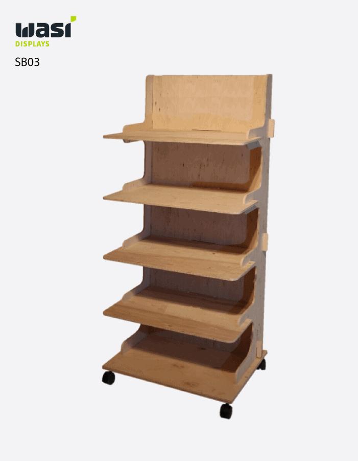 Standard Bodendisplays SB03 aus Holz