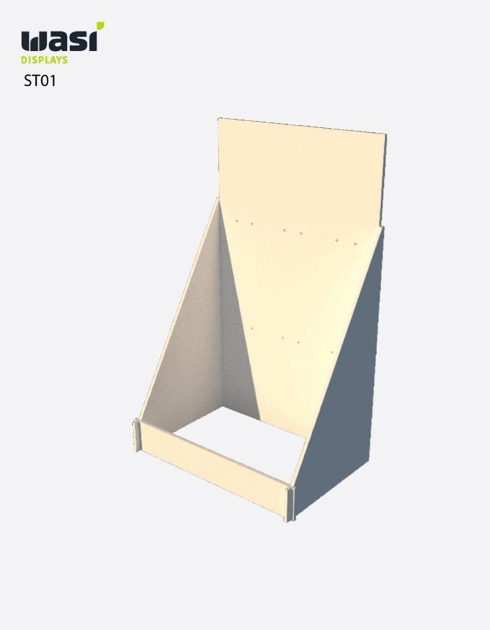 Standardmäßiges Thekendisplay Modell ST01 aus Holz