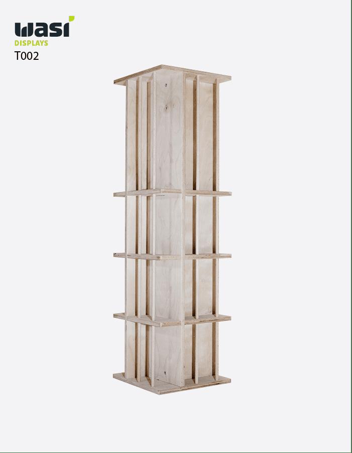 Thekendisplays Modell T002 aus Holz in Form einer Stele