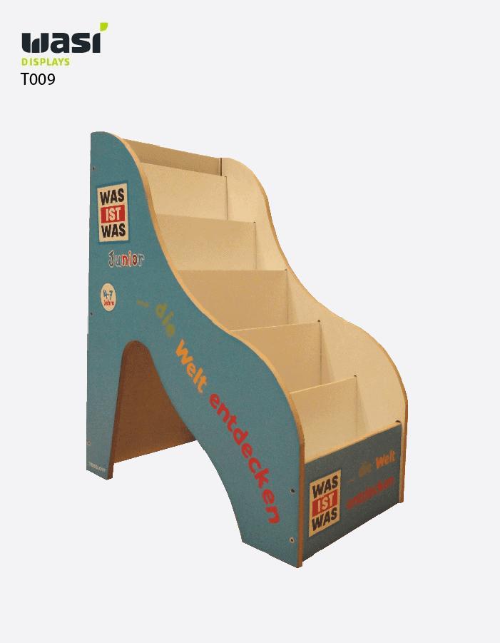 Thekenaufsteller Modell T009 in Schanzenform mit abgerundeten Kanten und Logodruck