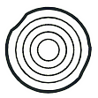 Display-Kompetenz Icon von mehreren ineinander liegenden Kreisen